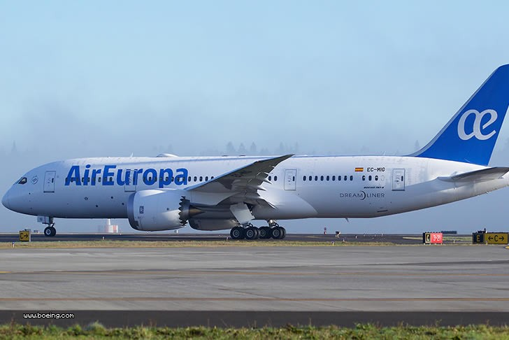 Air Europa Will Use A Boeing 787 In Madrid Santo Domingo