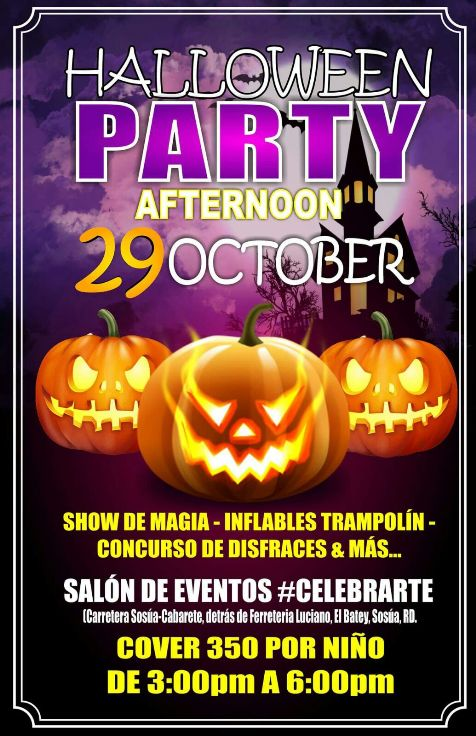 Halloween Party for kids in Sosua - Salon de Eventos Celebrarte