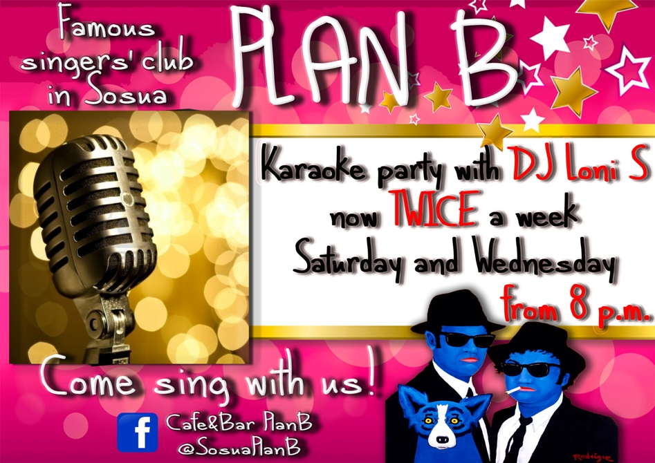 Karaoke Night every Saturday and Wednesday at Plan B