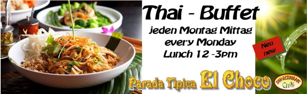 Thai Buffet at Parada Tipica El Choco every Monday