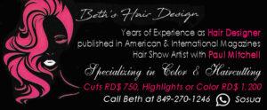 Beth's Hair Design American hairdresser in Sosua